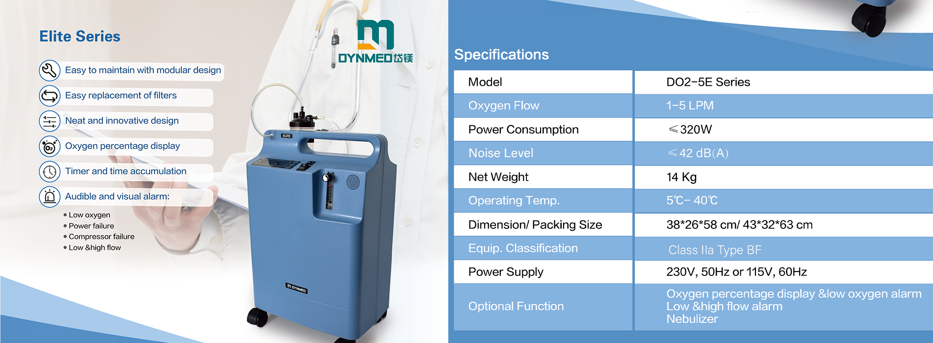 New 5L oxygen concentrator